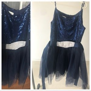 NEW Chasing Fireflies sequin party dress blue